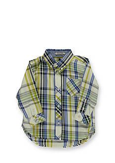 Kitestrings® Woven Long Sleeve Plaid Button Down Shirt