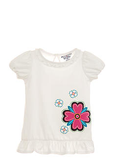 Hartstrings Puffy Sleeve Flower Tunic