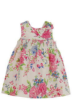 Hartstrings Floral Print Sateen Dress