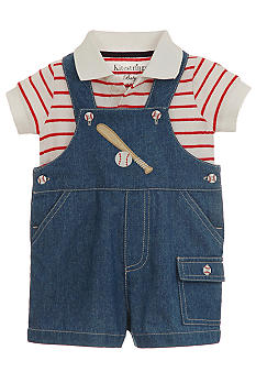 Kitestrings Baseball Overall Bodysuit
