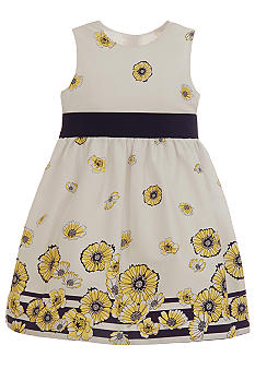 Hartstrings Daisy Border Dress Toddler Girls