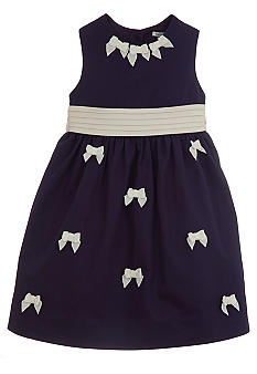 Hartstrings Bow Dress Toddler Girls
