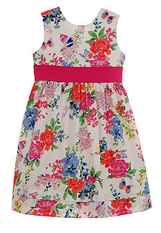 Hartstrings Floral Dress Toddler Girls