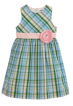 Hartstrings Plaid Dress Toddler Girls