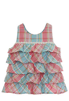 Hartstrings Tiered Plaid Tank Toddler Girls