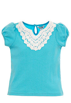 Hartstrings Lace Trim Tee Toddler Girls