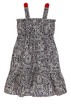 Hartstrings Floral Paisley Print Dress Toddler Girls