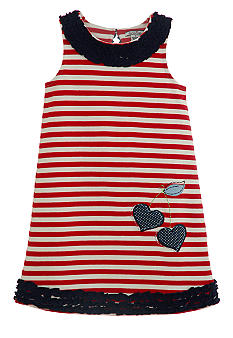 Hartstrings Stripe Dress Toddler Girls