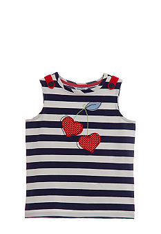 Hartstrings Striped Cherry Top Toddler Girls