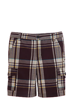 Kitestrings Blue Plaid Cargo Short Toddler Boys