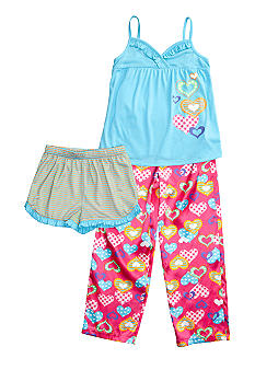 J Khaki 3-Piece Pajama Set Girls 4-16