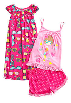 J Khaki 3-Piece Dance Girl Pajama Set Girls 4-16