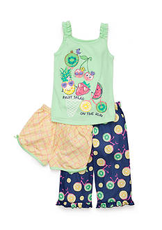 J Khaki™ 3-Piece Fruit Salad Pajama Set Girls 4-16