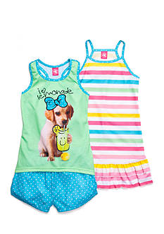 J Khaki™ 3-Piece Lemonade Dog Pajama Set Girls 4-16