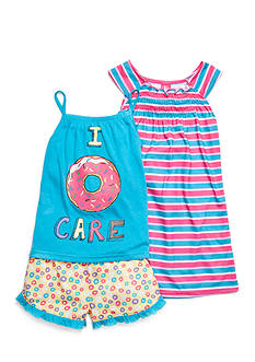 J Khaki™ 3-Piece Donut Stripe Pajama Set Girls 4-16