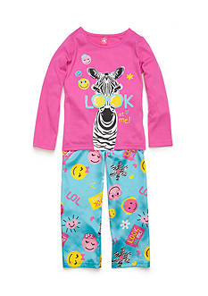 J. Khaki 2-Piece Zebra Pajama Set Girls 4-16