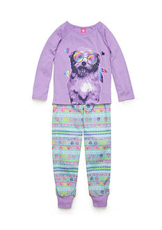 J. Khaki 2-Piece Boho Dog Pajama Set Girls 4-16