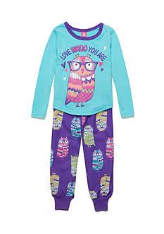 J. Khaki 2-Piece Owl Pajama Set Girls 4-16