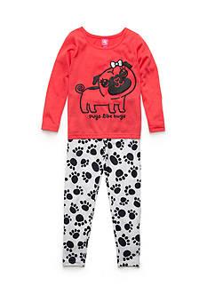 J. Khaki 2-Piece 'Pugs Like Hugs' Pajama Set Girls 4-16
