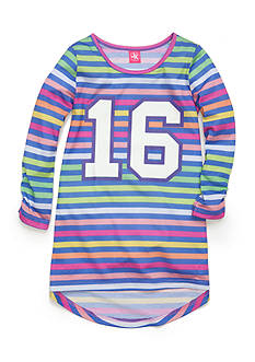 J. Khaki Multi-Striped Pajama Gown Girls 4-16