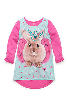 J. Khaki Princess Bunny High Low Nighgown Girls 4-16
