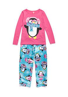 J. Khaki Geek Penguin 2-Piece Pajama Set Girls 4-16
