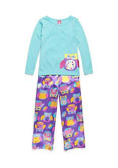 J. Khaki Dotty Owl 2-Piece Pajama Set Girls 4-16