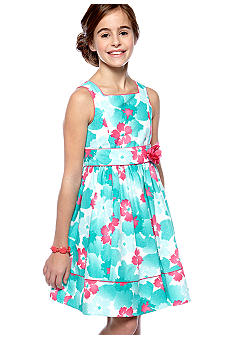 Sweet Heart Rose Floral Printed Dress Girls 7-16