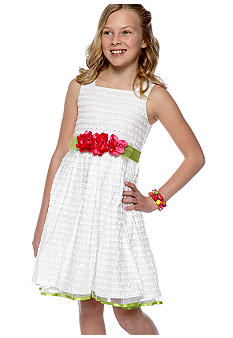 Bloome Textured Ocassion Dress Girls 7-16