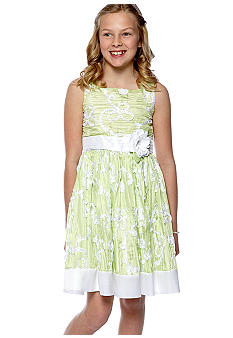 Bloome Textured Floral Occasion Dress Girls 7-16