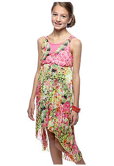 Bloome Floral Pleated Dress Girls 7-16