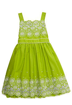 Bloome Eyelet Occasion Dress Girls 7-16 - Online Only