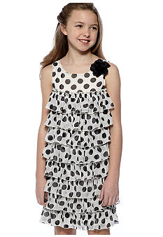 Bloome Dot Tie Dress Girls 7-16