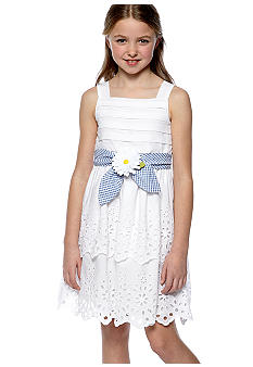 Bloome Tiered Eyelet Dress Girls 7-16