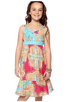Bloome Paisley Print Sundress Girls 7-16 - Online Only