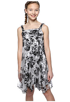 Bloome Floral Mesh Corkscrew Dress Girls 7-16
