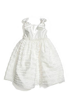 Sweet Heart Rose Bow Shoulder Flower Girl Dress Girls 4-6x