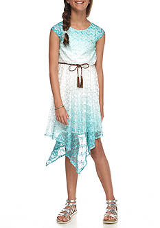 Bloome Chevron Sharkbite Tee-Shirt Dress Girls 7-16