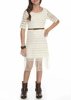 Bloome Lace Fringe Dress Girls 7-16