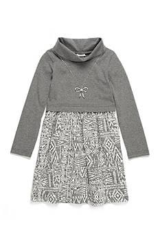 Sweet Heart Rose Turtleneck Aztec Print Dress Girls 4-6x