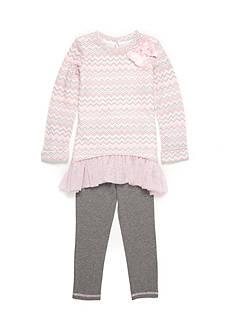 Sweet Heart Rose Chevron Sweater Set Girls 4-6x