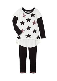 Sweet Heart Rose Star Sweater Set Girls 4-6x