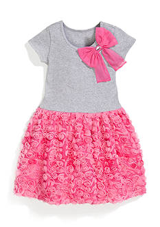 Bonnie Jean® Solid Knit to Bonaz Dress Girls 4-6x