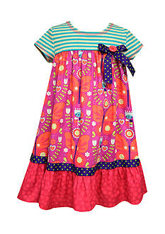 Bonnie Jean Butterfly Mixed Media Dress Girls 4-6x