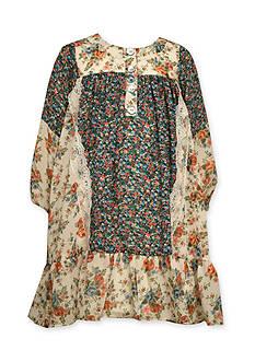Bonnie Jean Boho Mixed Floral Print Dress Girls 4-6x