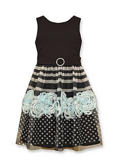 Bonnie Jean Knit To Border Bonaz Dress Girls 4-6x