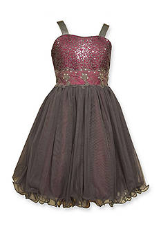 Bonnie Jean Sequin To Tulle Dress Girls 4-6x