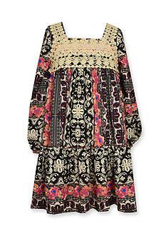 Bonnie Jean Boho Printed Dress Girls 4-6x
