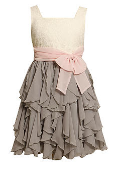 Bonnie Jean Social Ruffle Dress Girls 7-16