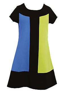 Bonnie Jean Color Block Zipper Dress Girls 7-16